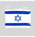 Flag of Israel on an empty background vector image