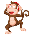 Cute monkey cartoon dancing vector image