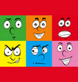 different expressions on human faces vector image
