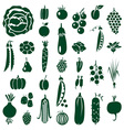 fruit and vegetables icons on white vector image