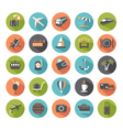 Set of modern flat travel icons vector image