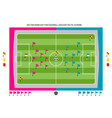 tamplate for football tactic scheme vector image