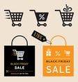 Black friday emblems vector image