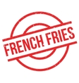 French fries rubber stamp vector image