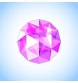 Realistic purple amethyst shaped Gem vector image