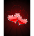 Red heart beautiful background vector image