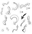 hand drawn arrows 01 vector image