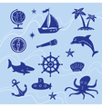 sea adventure set vector image vector image