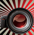 professional camera - retro background vector image vector image
