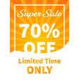 banner super sale 70 off image vector image