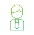 business man avatar character male profile vector image