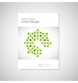 Classic brochure A4 with abstract figures Modern vector image