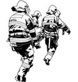firefighters and saved human vector image