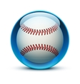 Glass icon sports themes for website or app vector image