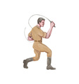 Lion Tamer Bullwhip Isolated Watercolor vector image