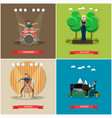 set of singers and musicians concept flat vector image