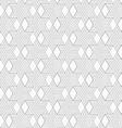 Slim gray hexagons and diamonds vector image