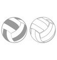 volleyball ball it is black icon vector image