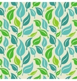 seamless background with green and blue leaves vector image vector image