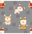 seamless background of cat in clothes vector image