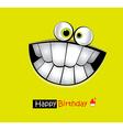 Happy Birthday Card smile vector image vector image