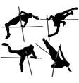 Pole Vault Silhouette vector image