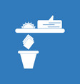 icon paper and trash vector image