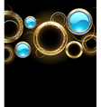 background with golden rings vector image