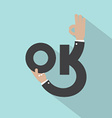 Hands With OK Typography Design vector image