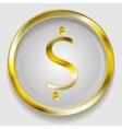 Concept golden dollar symbol logo vector image