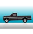 Pick-up truck black vector image vector image