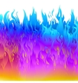 Bright colorful fire flame vector image