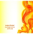 Abstract color wave design element vector image