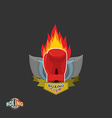 Boxing labels Boxing gloves emblem Club vector image