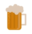 glass beer mug foam cold drink vector image