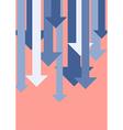 Graph down arrows vector image