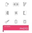 Photo icon set vector image