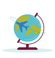 planet earth plane vector image
