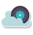 retro music vinyl isolated icon vector image