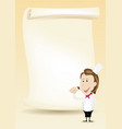 woman chef restaurant poster menu background vector image