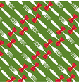 Christmas cutlery pattern background vector image vector image