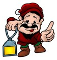 Dwarf With Lamp vector image