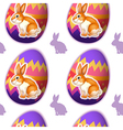 A seamless design with bunnies inside the eggs vector image vector image
