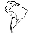 South America sketch vector image vector image