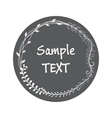 sticker card vintage style hand drawing vector image vector image
