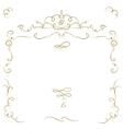 Ornate cartouche vector image