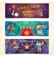 Circus Banner Set vector image