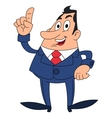 Businessman has an idea vector image