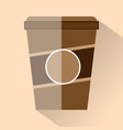 coffee cup flat design - graphic vector image