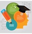 education info graphic idea design template vector image